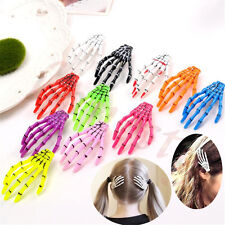2/5pcs Halloween Party Zombie Skull Skeleton Hand Bone claw Hairpin Hair Clip