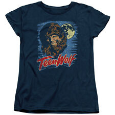 Teen Wolf Movie Painted MOON WOLF Women's T-Shirt All Sizes
