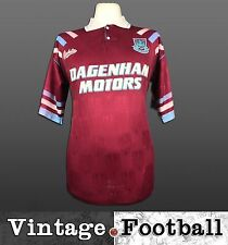 Bukta West Ham United Home Football Shirt Kit Top 1992/93 (Size: M) WHUFC