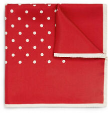 Kingsquare 100% Silk Polka Dot Pocket Square with Gift Box