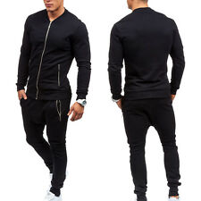 Mens Jogging Running Tracksuit Sports Gym Sweat Suit Athletic Clothes Coat+Pants