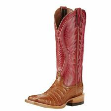 Ariat Western Womens Boots Vaquera Tan Caiman Belly Exotic 10018549