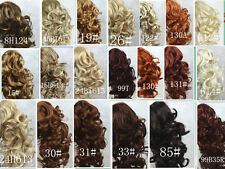 BLACK Ponytail Extension Hairpiece Curly Claw clip in on Ponytail Hair Piece