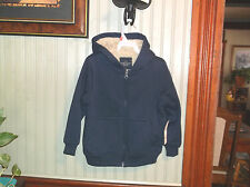 BOYS SHERPA HOODIE FAUX FUR LINED JACKET SIZE XS(4-5) BY FADED GLORT NWT