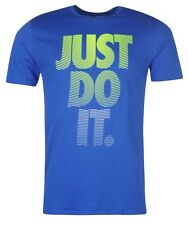 Nike Just do it Men's T-Shirt Blue all sizes new with label