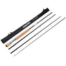 New Carbon Fly Fishing Rod 9FT 2.7M 4 Section Fishing Rod Line wt #3/4 #5/6 #7/8