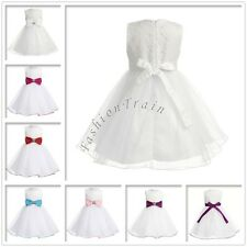 Baby Flower Girls Lace Formal Gown Tutu Pageant Birthday Party Wedding Kid Dress