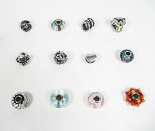Authentic Trollbeads Trollbead Retired Charm Silver Glass Beads - CHOOSE BEAD *