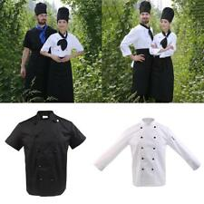 New Five Star Chef Apparel Unisex Short Long Sleeve Chef Jacket Cooker Coat