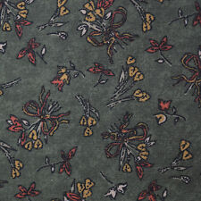 Quilt Fabric Cotton Calico Green Heart Bouquet Floral: FQ 17x22