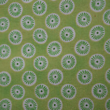 Quilt Fabric Quilting Cotton Calico Green w/ Circles--Beads by Lakehouse: FQ