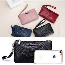 Women Wallet Genuine Leather Crocodile Pattern Female Clutch Coin Purse