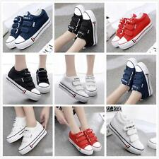 Ladies Platform Canvas Chic Hidden Wedge Sneaker Pump Shoes New UK7