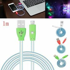 Hot Flowing Visible LED Light UP V8 Micro USB Data Sync Charger Cable For Phone