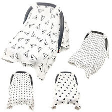 Muslin Baby Car Seat Canopy Dustproof Swaddle Stroller Blanket Shading Cover DY4