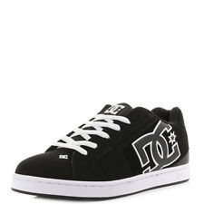 Mens DC Shoes Net Black Black White Casual Skate Trainers Shu Size
