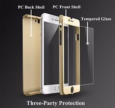 360° Full Body Protector Tempered Glass & Case Cover for Apple iPhone 7 7 Plus