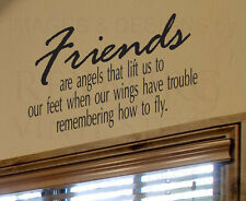Wall Art Decal Sticker Quote Vinyl Friends are Angels Friends Friendship FR3
