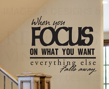 Wall Decal Sticker Quote Vinyl Art Lettering Removable Focus On Your Goals J35