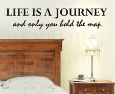 Wall Decal Quote Vinyl Sticker Art Removable Lettering Life is a Journey IN35