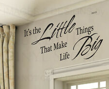 Wall Decal Sticker Quote Vinyl Art Lettering Letter The Little Things Life IN51