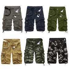 Mens Summer Shorts Pants Army Camo Camouflage Outdoor Work Cargo Trousers Slacks