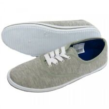 A Pair Of Ladies Grey Canvas Lace-Up Pumps Size 3 Or 4 Flat Plimsole Trainer New