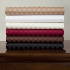 New 1200 TC  Egyptian Cotton Complete Bedding Items UK King All Striped Color