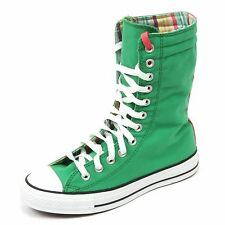 C2132 sneaker alta donna CONVERSE ALL STAR scarpa verde boot shoe woman