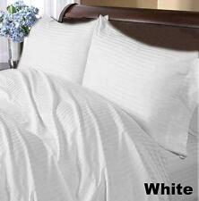 1200Thread Count Egyptian Cotton White Striped All Bedding Items US Size
