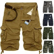 NEW Men's Summer Army Camouflage Work Cargo Shorts Slacks Pants Short Trousers