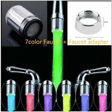 LED Water Faucet Stream Light 7 Colors Changing Glow Shower Stream Tap Univer CE