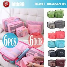 6Pcs Waterproof Travel Storage Bag Clothes Packing Cube Luggage Organizer CE
