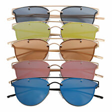 Women Retro Vintage Sports Mirror Oversized Designer Cat Eye Sunglasses LOT CE