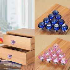 Crystal Cupboard Cabinet Dresser Drawer Wardrobe Door Knobs Pull Handle 30mm CE