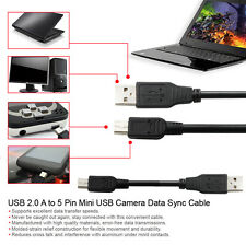 10FT High Speed USB 2.0 A Male to 5-Pin Mini B Cable For Hero HD Digital Cameras