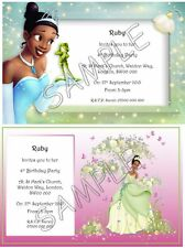 PRINCESS TIANA Personalised Party Invitations Thank You Cards A6 + Envelopes
