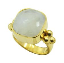Rainbow Moonstone Gold Plated Ring L-1.5 tantalizing White supplies AU K,M,O,Q