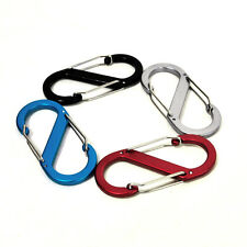8 Shape Aluminum Alloy Carabiner Key Chain Hook Clip Outdoor Camping Hiking Snap