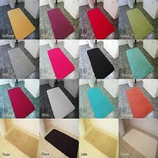 NEW EXTRA LARGE THICK MODERN 5cm HIGH PILE PLAIN SOFT NON-SHED SHAGGY RUGS