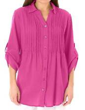 Woman Within plus size 18/20 30/32 34/36 38/40 42/44 pink pintuck blouse top