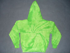 New Youth Green Spider Tie Dye Hooded Sweat Shirt Size Large (14-16)