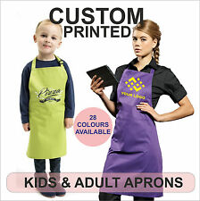 Aprons Custom printed For Kids & Adults with YOUR Txt ,Logo,Artwork