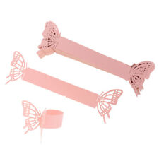 50 Shiny Paper Butterfly Napkin Ring Holder Wedding Party Serviette Buckle