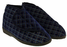 Mens Orthopaedic Slipper Boots Touch Fastening Diabetic Sz Size 6 7 8 9 10 11 12