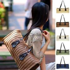 Fashion Weave Straw Summer Beach Handbag Larege Shoulder Tote Shopping Bag Purse