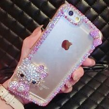 For Mobile Phones Bling Crystals Gems Lovely Gilry Hello Kitty Hard Back Case