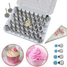 Set 24 52 Icing Cake Pastry Cream Piping Nozzles Tips Decorating Stainless CE