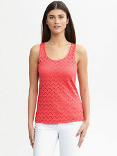 Banana Republic Chevron Lace Tank Petite M (Black or Pink)