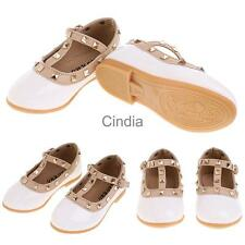 Baby Girls Toddler Kids Sandals Rivet T-strap Flat Shoes Princess Sandals White